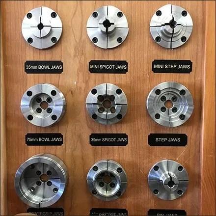 Nova Lathe Chuck Jaw Accessory Display