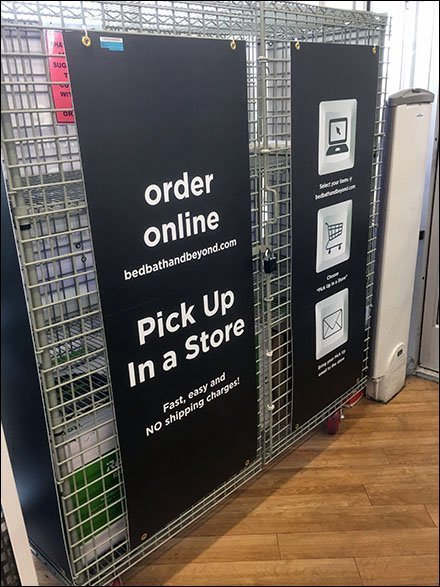 Wire Grid In-Store Pickup Staging Area