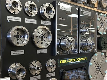 Record Power Lathe Chuck Jaw Accessory Display