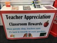 Teacher Appreciation Classroom Rewards Display