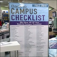Back-To-Campus Checklist Floorstand Sign