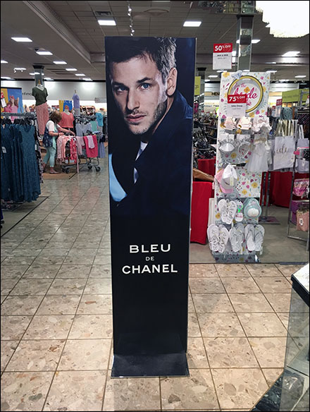 Blue de Chanel Vertical Sign Stand