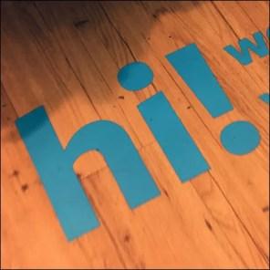 Carter's-Says-Hi Floor Graphic Welcome