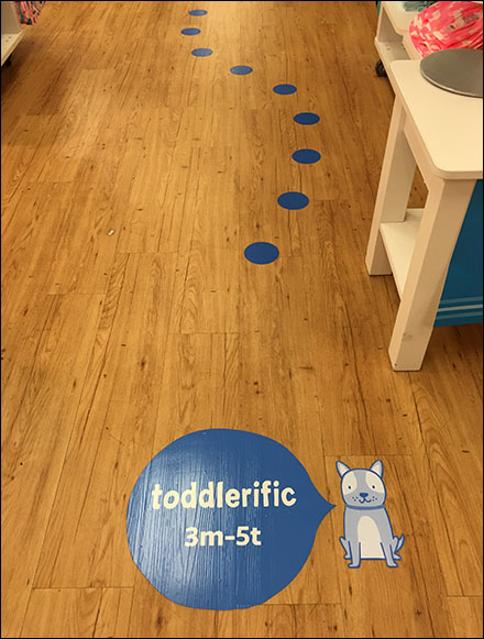 Toddler Floor-Graphic Breadcrumb-Trail