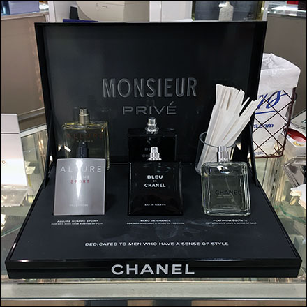 Chanel Monsieur Boxed-Set Sampler Display