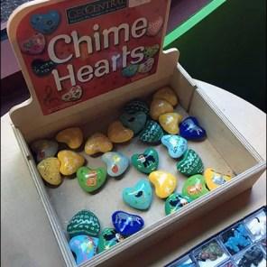Chime-Hearts Shelf-Top Plywood Box Display