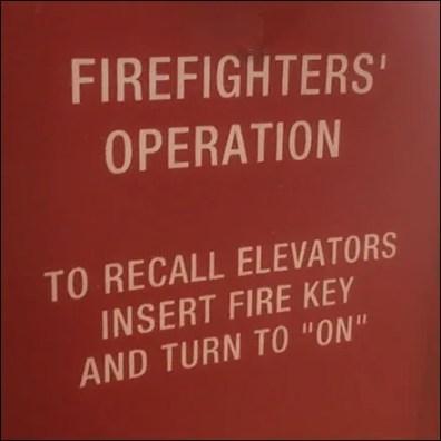 Elevator Emergency Operation Notice