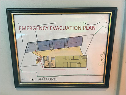Science-Center Formally-Framed Evacuation Plan