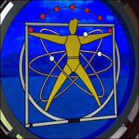Science Center Stained-Glass Window-Art