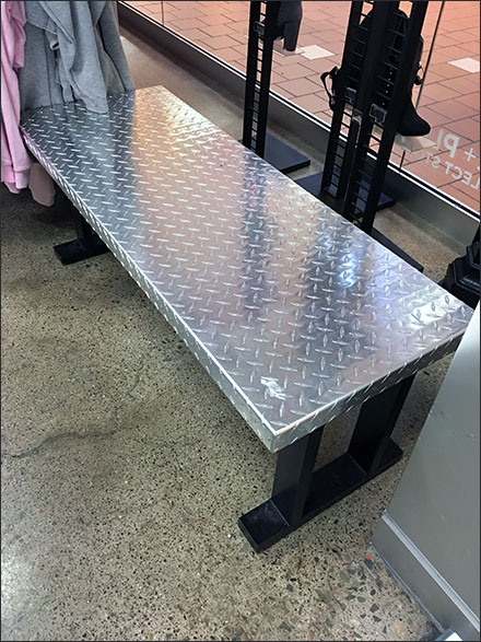 Diamond Plate Store Fixtures - Industrial-Chic Diamond Plate Bench