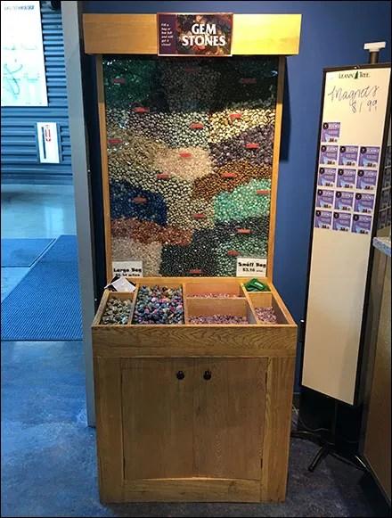 Gem-Stones Wood Bulk-Bin Display