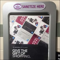 Gift-of-Shopping Hand Sanitizer Advertising