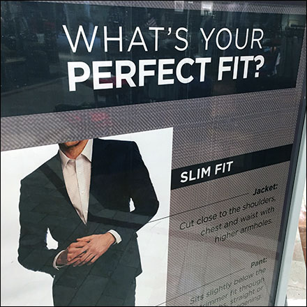 Perfect-Fit Menswear Insights Sign
