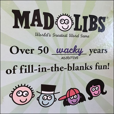 Mad-Libs Corrugated Floor Display