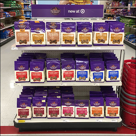 Old-Mother-Hubbard Dog Biscuits Endcap