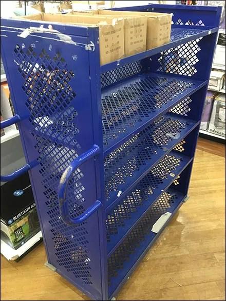 Perforated Metal-Mesh Stocking Cart