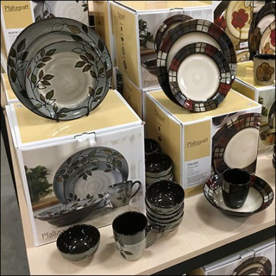 Pfaltzgraff Dinnerware Island Display