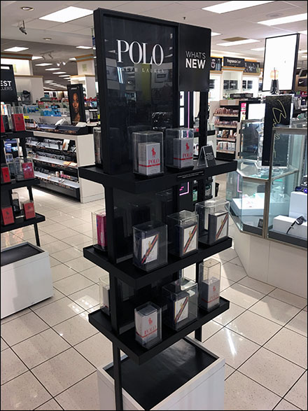 Freestanding Polo Red Rush Fragrance Tower