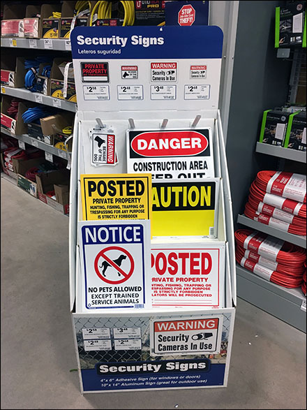 In-Aisle Security Sign Assortment Display