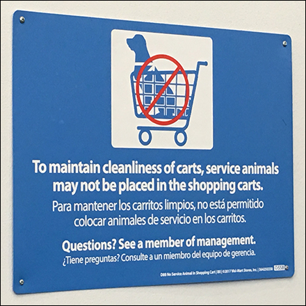 Service-Animal Cart-Riding Not Allowed