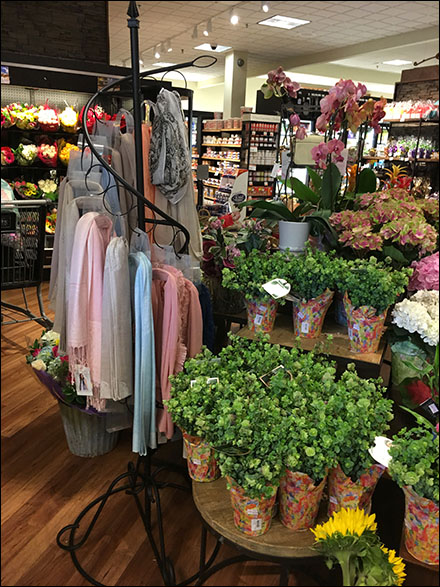 Spiral Scarf Floorstand Display in Grocery
