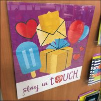 Stay-In-Touch Greeting Card Sentiment Sign