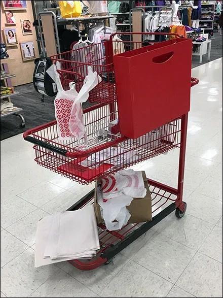 Triple-Tier-Cart Sidesaddle Sign Holder