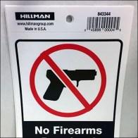Tear-Off Self-Merchandising Firearms Sign