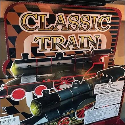 Vintage Classic Train Merchandising Display