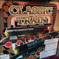 Vintage Classic Train Merchandising Display