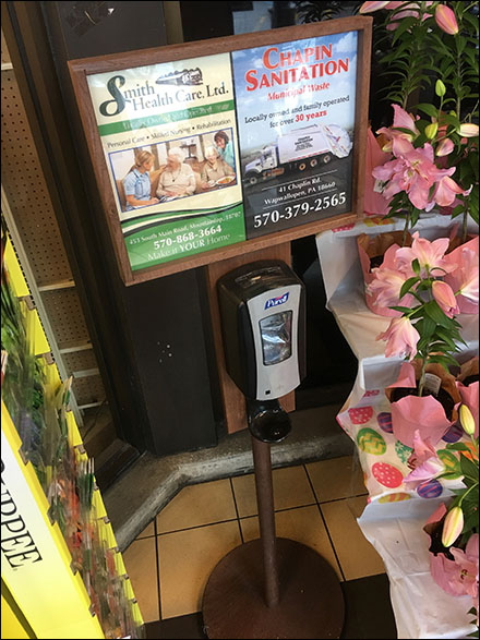 Hand-Sanitizer Wood-Frame Advertising Duo
