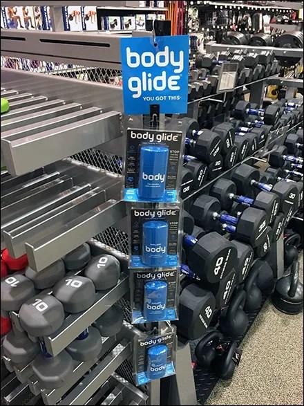 Body-Glide Blue Strip Merchandiser