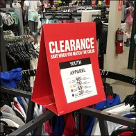 Rack-Top Tent-Sign Clearance Sale