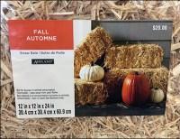Fall Straw Bale Visual Merchandising