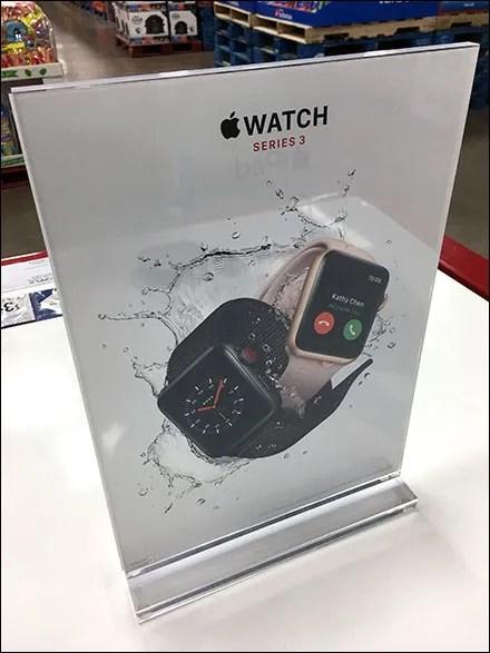 Crystal-Clear Apple Watch Acrylic Signholder