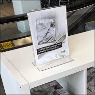 IKEA Table-Top Catalog Cover Sign Holder