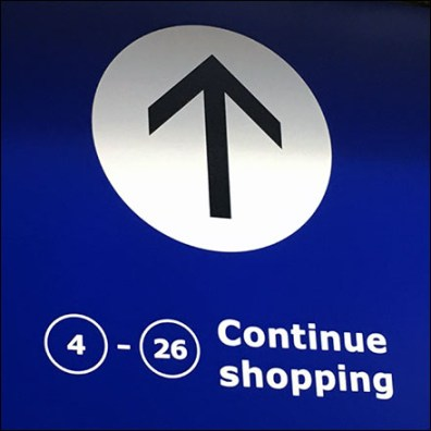 Continue Shopping Navigation Directional Sign