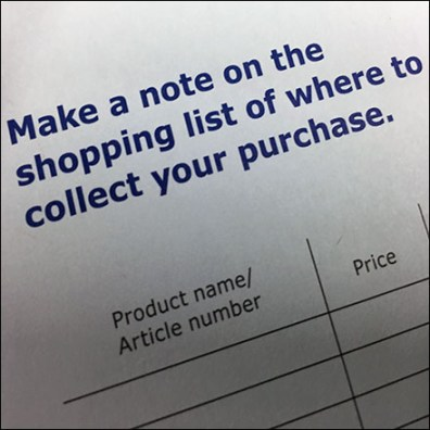 In-Store Pre-Printed Shopping List