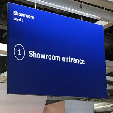 Showroom Entrance Store Navigation Sign