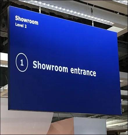 Showroom Entrance Store Navigation Sign