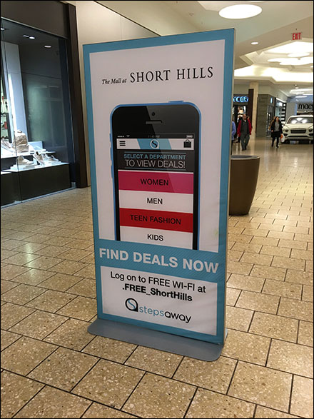 Long-Range Mall Mobile App Sign