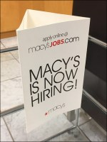Macy's Table-Top Hiring Sign Tricorne