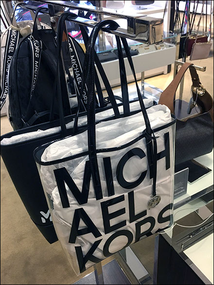 Michael Kors See-Through Purse T-Stand