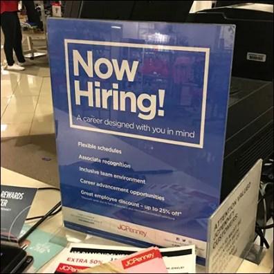 Career Hiring Counter-Top Sign