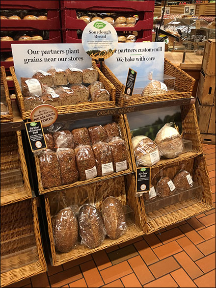 Sour-Dough-Bread Wicker Shelf Display