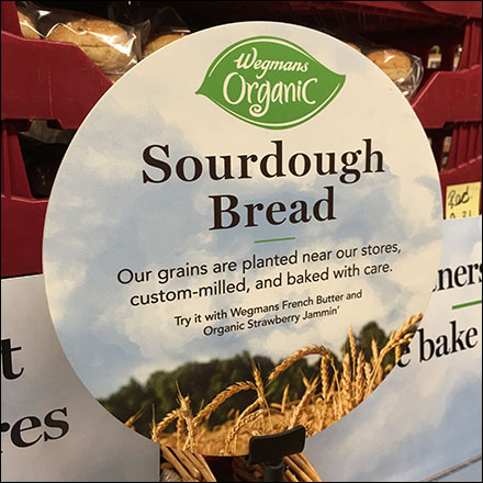 Organic Sour-Dough-Bread Wicker Shelf Display Feature