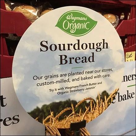 Organic Sour-Dough-Bread Wicker Shelf Display Feature