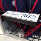 Wire-Basket Solid-Shelf Label-Holder Trick