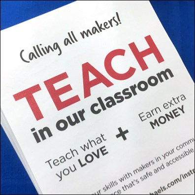 Teacher Recruiting Table-Top Takeaway
