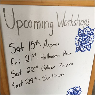 Art-Fusion Upcoming Workshops Easel
